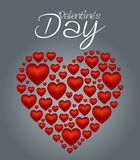Le coeur de jour de Valentines a placé 2 Images libres de droits