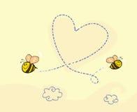 Le coeur de l'abeille illustration stock