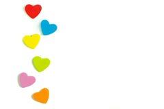 Le coeur de mousse forme sur le fond blanc en tant que conception Photographie stock