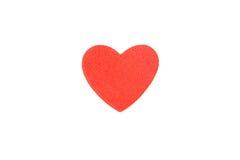 Le coeur de mousse forme sur le fond blanc en tant que conception Images stock