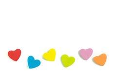 Le coeur de mousse forme sur le fond blanc en tant que conception Image libre de droits