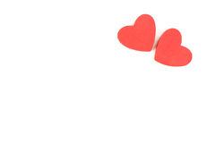 Le coeur de mousse forme sur le fond blanc en tant que conception pour le jour du ` s de Valentine Image libre de droits