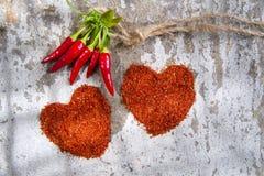 Le coeur des piments Image libre de droits