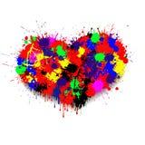 Le coeur des taches de peinture Photographie stock libre de droits