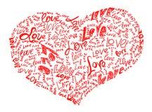 Le Coeur Dessiné Par Le Crayon A Rempli De Mots D Amour