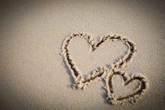 Le coeur a deux fois écrit Image libre de droits