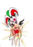 Le coeur du clown Image libre de droits