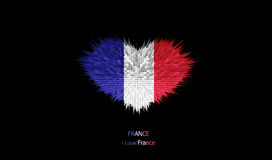 Le coeur du drapeau de Frances Photo stock