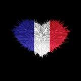 Le coeur du drapeau de Frances Illustration de Vecteur