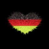 Le coeur du drapeau de l'Allemagne Illustration de Vecteur