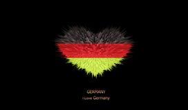 Le coeur du drapeau de l'Allemagne Illustration Stock