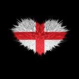 Le coeur du drapeau de l'Angleterre Illustration Stock