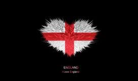 Le coeur du drapeau de l'Angleterre Illustration de Vecteur