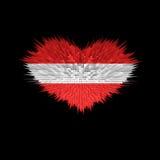 Le coeur du drapeau de l'Autriche Illustration Libre de Droits