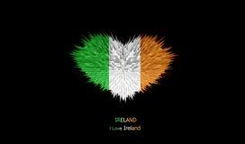Le coeur du drapeau de l'Irlande Illustration Stock