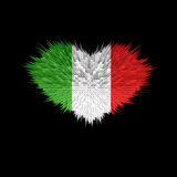 Le coeur du drapeau de l'Italie Illustration Stock