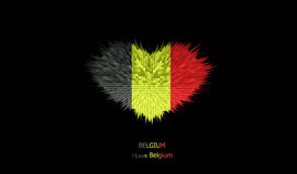 Le coeur du drapeau de la Belgique Illustration de Vecteur