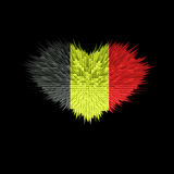 Le coeur du drapeau de la Belgique Photo stock
