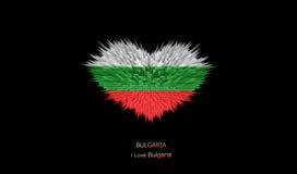 Le coeur du drapeau de la Bulgarie Illustration Stock
