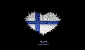 Le coeur du drapeau de la Finlande Illustration Stock