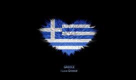 Le coeur du drapeau de la Grèce Illustration Libre de Droits