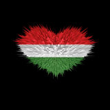Le coeur du drapeau de la Hongrie Illustration Stock