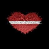 Le coeur du drapeau de la Lettonie Illustration Stock