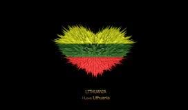 Le coeur du drapeau de la Lithuanie Illustration Libre de Droits