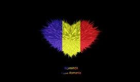 Le coeur du drapeau de la Roumanie Illustration Libre de Droits