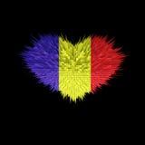 Le coeur du drapeau de la Roumanie Illustration Stock