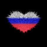 Le coeur du drapeau de la Russie Illustration Stock