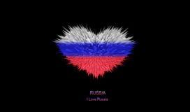 Le coeur du drapeau de la Russie Illustration Libre de Droits