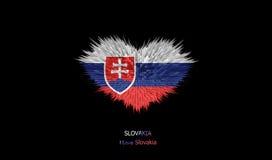 Le coeur du drapeau de la Slovaquie Illustration Stock