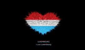 Le coeur du drapeau du luxembourgeois Illustration Stock