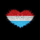 Le coeur du drapeau du luxembourgeois Illustration de Vecteur