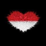 Le coeur du drapeau du Monaco Illustration Libre de Droits
