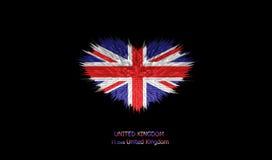 Le coeur du drapeau du Royaume-Uni Illustration Libre de Droits