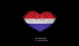 Le coeur du drapeau néerlandais Illustration de Vecteur