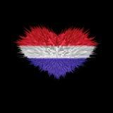 Le coeur du drapeau néerlandais Illustration Libre de Droits