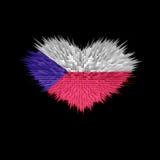 Le coeur du drapeau tchèque Illustration Stock