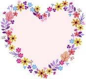 Le coeur du pré fleurit la lavande jaune-orange de couleurs pastel Images libres de droits