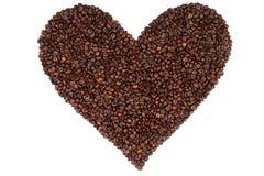 Le coeur a effectué des grains de café d'ââfrom Image stock