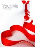 le coeur a effectué la bande rouge Images libres de droits