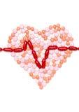 Le coeur est fait de pilules photo libre de droits