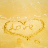 le coeur est parti de l'été Photos libres de droits