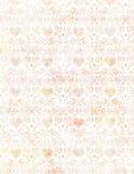 Le coeur et l'oiseau sales mous de vintage Wallpaper le modèle au pastel Image stock