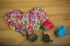 Le coeur et la rose photos stock