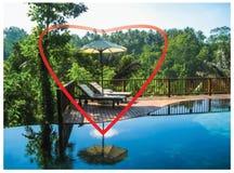 Le coeur et le fond de Bali Photographie stock