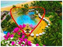 Le coeur et le fond de Bali Photo stock