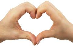 Le coeur forment elle et lui Images stock